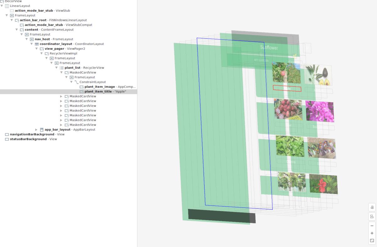 布局检查器:3D 视图
